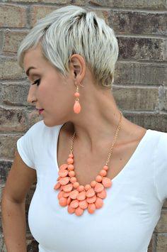 Teardrop Necklace and Earring Set | Jane