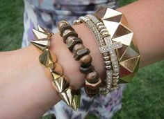 Lollapalooza 2013: It's all about mixing and matching at this arm party, courtesy of ASOS. #lollapalooza #lolla