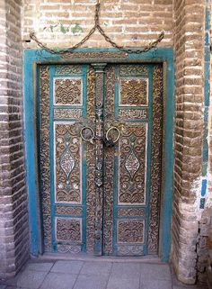 decorated door in Abyaneh, Iran. Oh my heart, the Middle East