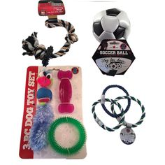 Dog Toys For Small Dogs Bundle Includes 3 Piece Dog Toy Set, Triple Ring Tug Toy, Rubber Ring Rope Toy, Mini Soccer Ball - Colors May Vary with Triple Ring Tug Toy and Soccer Ball * Find out more about the great product at the image link. (This is an affiliate link and I receive a commission for the sales) #DogLovers