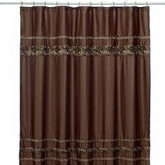 Croscill® Mosaic Tile Fabric Shower Curtain - BedBathandBeyond.com