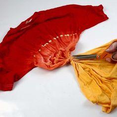 Dip'n dye og batikk på T-shirt   DIY veiledning