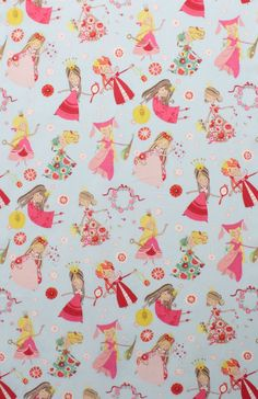 NEW - Alexander Henry Fabric - Once Upon A Time Collection - Fair Maidens - Blue. $8.25, via Etsy.