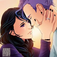 Emo Couples, Couples In Love, Beautiful Anime Girl, Anime Love, Anna Blue, Blue Drawings, Emo Art, Gothic Anime, Hero Wallpaper