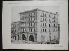"""1915 PALAZZO CINEMATOGRAFO UTVEGGIO A PALERMO STAMPA in """"L'ARCHITETTURA ITALIANA - ANNO XI"""" ANNO:  1915 - 1916"""
