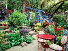 Fun. Diana Stratton's garden in Healdsburg, California.