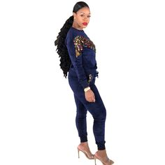 2018 Autumn Winter Women Two Piece Set Spandex Sequin Tops And Long Pant Suit Sexy Club Outfits 2 Piece Matching Sets Tracksuit Office Outfits Women, Casual Outfits, Winter Club Outfits, Off Shoulder Outfits, Two Piece Pants Set, Cheap Plus Size Lingerie, Fashion Pants, Fashion Hoodies, Fall Shirts