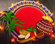 15 Half Circle Rangoli Design (ideas) that you can make yourself or get it made during any occasion on the living room or courtyard floors. Easy Rangoli Designs Diwali, Rangoli Designs Latest, Simple Rangoli Designs Images, Rangoli Designs Flower, Free Hand Rangoli Design, Small Rangoli Design, Rangoli Border Designs, Rangoli Ideas, Colorful Rangoli Designs