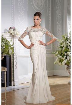 Rund-neck Sexy Bodenlang Elegante Brautkleider 2014