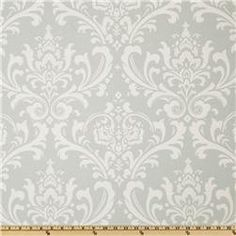 Premier Prints Traditions Robin/White from Screen printed on cotton duck; this versatile medium weight fabric is perfect for window accents (draperies, valances, curtains and swags), accent pillows, duvet covers and upholstery. Retro Fabric, Cool Fabric, Gray Fabric, Premier Prints, Premier Fabrics, Jewelry Roll, Traditional Fabric, Drapery Fabric, Pillow Fabric
