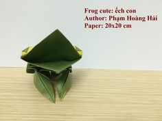 Tutorial- How to make Origami Frog cute - Phạm Hoàng Hải by PaperPh2