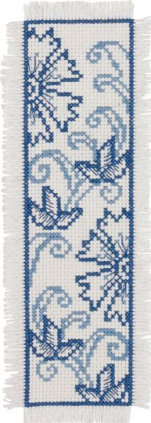 BLue Flower Bookmark - Cross Stitch Kit