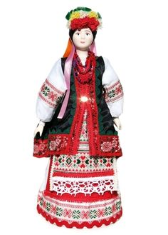 """GreatRussianGifts.com - Russian Porcelain Costume Doll """"Ukrainian Girl"""" Large, $29.95 (http://www.greatrussiangifts.com/russian-porcelain-costume-doll-ukrainian-girl-large/)"""