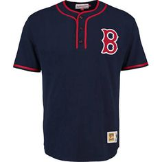 f2aa5c9977837 Men s Boston Red Sox Mitchell   Ness Navy 8th Inning Baseball Jersey T-Shirt