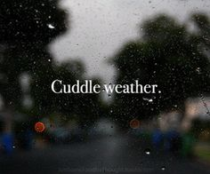 YES! anytime that is rainy or chilly or grey is automatically cuddle weather.