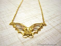 Beautiful Dainty Gold Butterfly Charm Necklace / by CYDesignStudio