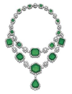 Magnificent emerald and diamond necklace, Harry Winston, 1959