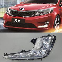 96.00$  Buy now - http://alifup.worldwells.pw/go.php?t=32679116831 - Car DRL Kit for KIA Rio K2 2011 2012 2013 2014 LED Daytime Running Light bar auto Fog lamps bulb daylight  light for car led drl 96.00$
