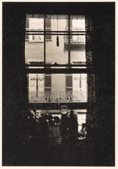 Window with Crystal Ball on Sill, West Cedar Street, Boston, Massachusetts (gelatin silver print, 1930–31) – Walker Evans