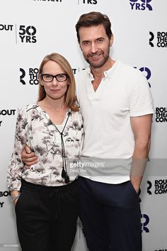 Actors Amy Ryan and Richard Armitage attend Roundabout Theatre Company's 'Love, Love, Love' cast photocall on August 22, 2016 in New York City.