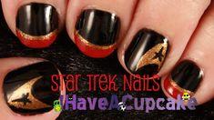 Simple Star Trek Nail Art - YouTube