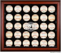 Montreal Expos Logo Framed 30-Ball Display Case