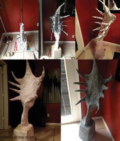 Homemade Halloween Beetlejuice prop! Delia's sculpture. Joshua Hudson