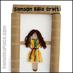 Samson Craft Stick Puppet Craft for Sunday School from www.daniellesplace.com