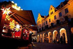 Christmas Fair in Regensburg, Bavaria, Germany.