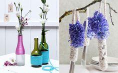 Decoração com vasos reciclados