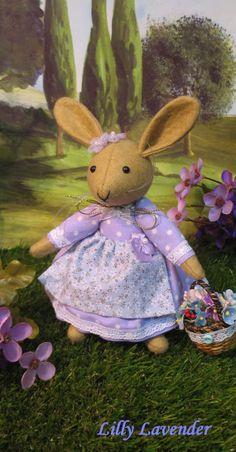 Lilly Lavender   Handmade storybook bunny by dollsandbunnies, $44.00