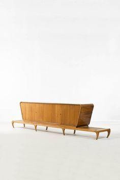 Giuseppe Scapinelli; Wood Sideboard, 1950s.