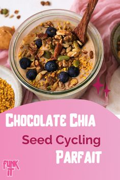 Delicious + chocolaty recipe for all of your hormone balancing needs. If you are running out of ways to seed cycle this is the perfect recipe for you! Recipie by @Cacaoforcoconuts Chia Pudding Coconut Milk, Seed Cycling, Sea Moss, Hormone Balancing, Perfect Food, Chia Seeds, Chocolate Recipes, Parfait, Oatmeal