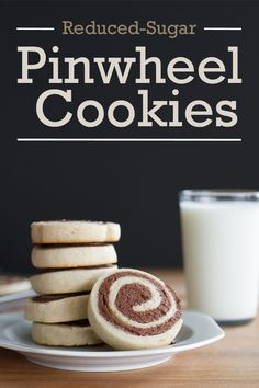 'Tis the season for sweet treats! These cookies are the perfect addition to any dessert table this holiday. They've got all the sweetness you love in your classic pinwheel cookie recipe but only HALF the sugar!  Grab the whisk & the mixing bowl and get baking!