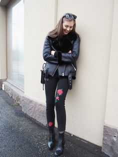 Winter outfit Outfit ideas Embroided