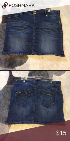 5 pocket denim skirt Blue Denim short skirt New York & Company Skirts