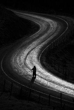♀ Black and White path alone