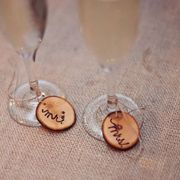 champagne charms for a wedding or shower