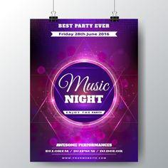 Poster abstrato roxo música Vetor grátis