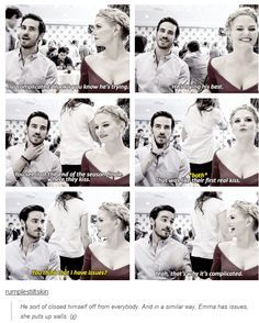 Jennifer and Colin - #SDCC 2014 -  That was like their first real kiss