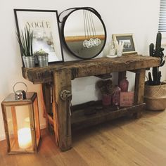Fall Entryway Decor: Easy + Simple Ways to Welcome Fall into Your Home - 1111 Light Lane Fall Entryway Decor, Entry Way Design, Reclaimed Wood Projects, Vintage Industrial Furniture, Hallway Decorating, Buffets, Rustic Decor, Diy Furniture, Sweet Home