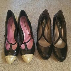 Two pair of cute heels Isaac Mizrahi 8.5 tan and Naturalizer n5 Comfort Size 8....both in nice condition! Isaac Mizrahi Shoes Heels