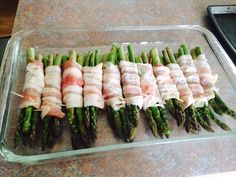 Bacon Wrapped Asparagus Well Plated By Erin. Bacon Wrapped Asparagus Recipe Tablespoon Com. Vegetarian Recipes Uk, Cooking Recipes For Dinner, Real Food Recipes, Bacon Wrapped Asparagus, Salmon And Asparagus, Asparagus Recipe, Bacon Wrapped Pork Tenderloin, Pork Tenderloin Recipes, Ground Beef Cauliflower Recipe