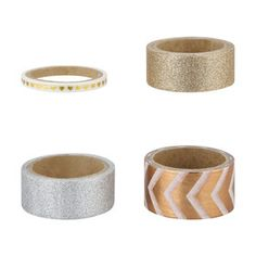 Washi Tape - Set of 4 Washi Tape Set, Craft Supplies Online, Scandinavian Living, Office Accessories, Home Entertainment, Napkin Rings, Buy Art, Diys, Arts And Crafts