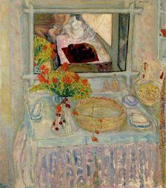 'Dresser et Miroir' de Pierre Bonnard (1867-1947, France)