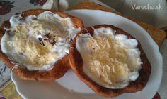 Jogurtové langoše (fotorecept) Ale, Muffin, Pizza, Pudding, Bread, Breakfast, Desserts, Food, Basket