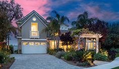 Emerald Point Estates Home in Carlsbad Highly upgraded - California Contemporary with ocean views @ 1387 Sapphire, Carlsbad