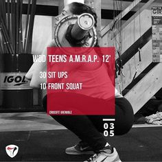 WOD 030517 #CrossFit #Grenoble #crossfitteens #Wod #Training #Amrap #OriginalAthlete #Become #situps #frontsquat