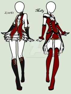 Grim+Tales:+Devils+Fear+-+Mally+And+Zwei's+Outfits+by+MaliceInTheAbyss.deviantart.com+on+@DeviantArt