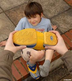 Inchworm shoes grow with your child's feet.